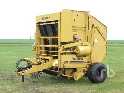 1992 VERMEER 605 Super J Round Baler