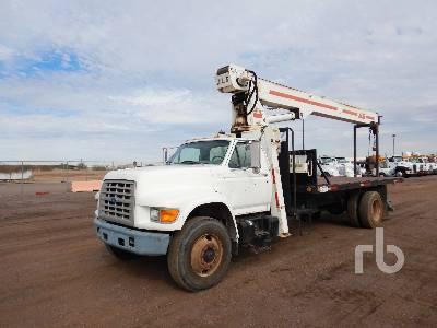 1996 FORD F800 4x2 w/JLG 1410JBT 14 Ton Boom Truck