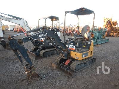 2015 JOHN DEERE 17G Mini Excavator (1 - 4.9 Tons)