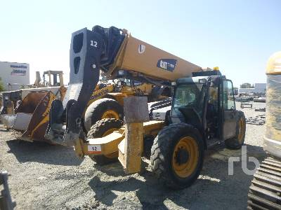 2013 CATERPILLAR TL1255C 12000 Lb 4x4x4 Telescopic Forklift