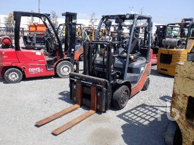 2011 TOYOTA 8FGCU20 4000 Lb Forklift
