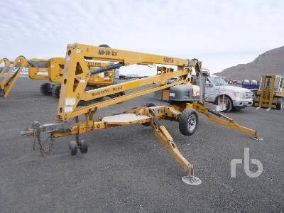 2014 HAULOTTE 4527A Tow Behind Articulated Boom Lift