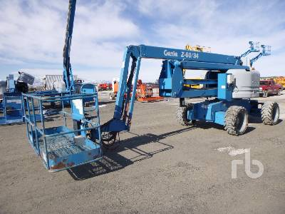 2011 GENIE Z60/34 4x4 Articulated Boom Lift