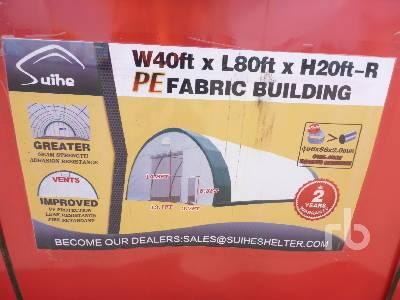 SUIHE S408020R 40 Ft x 80 Ft x 20 Ft Storage Building