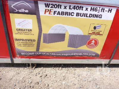 Unused SUIHE C2040 40 Ft x 20 Ft Container Shelter Storage Building