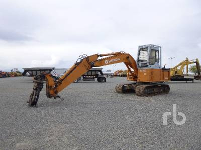 1995 HITACHI EX150 Heel Boom Log Loader