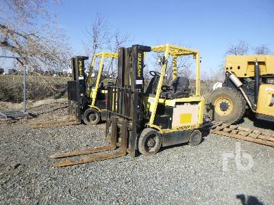 2006 HYSTER E60Z 5850 Lb Ride On Electric Forklift