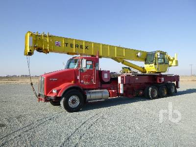 2013 KENWORTH T800 Quad/A w/Terex Crossover 6000 60 To Boom Truck
