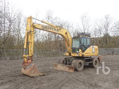 2006 KOMATSU PW160-7 4x4 Mobile Excavator
