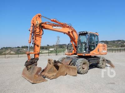 2013 DOOSAN DX140W Pelle Sur Pneus Mobile Excavator