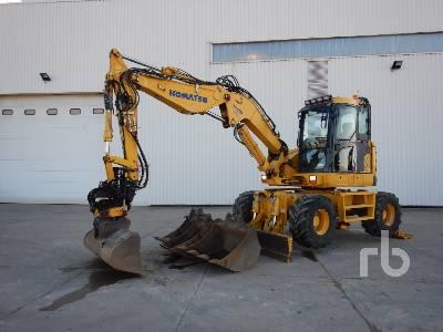 2015 KOMATSU PW118MR-8 Mobile Excavator