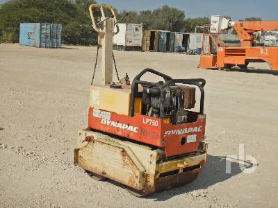 2010 DYNAPAC LP750 Tandem Vibratory Smooth Drum Walk Behind Roller