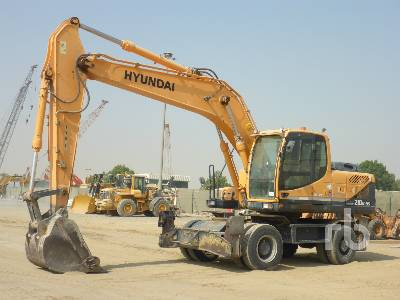 2014 HYUNDAI ROBEX 210W-9S Mobile Excavator