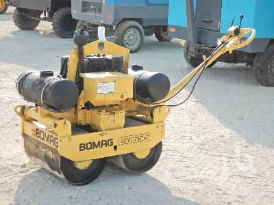 BOMAG BW65S Tandem Vibratory Smooth Drum Walk Behind Roller