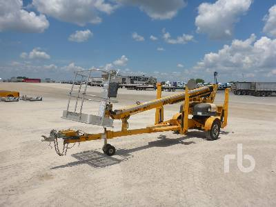 2013 HAULOTTE 3632T Electric Tow Behind Boom Lift