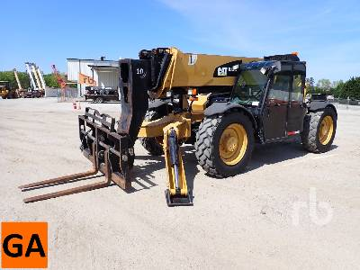 2012 CATERPILLAR TL1055C 10000 Lb 4x4x4 Telescopic Forklift