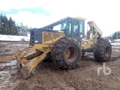 2001 JOHN DEERE 648G Series III Rubber-Tired 4x4 Grapple Skidder