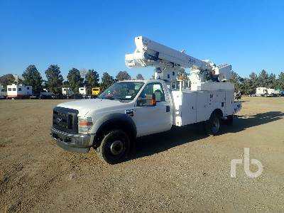 2008 FORD F550 S/A w/Altec TA37M Bucket Truck