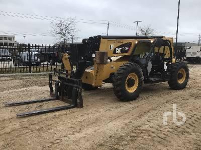 2016 CATERPILLAR TL1055D 10000 Lb 4x4x4 Telescopic Forklift
