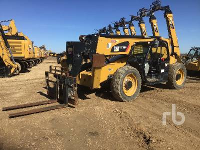 2018 CATERPILLAR TL1255D 12000 Lb 4x4x4 Telescopic Forklift