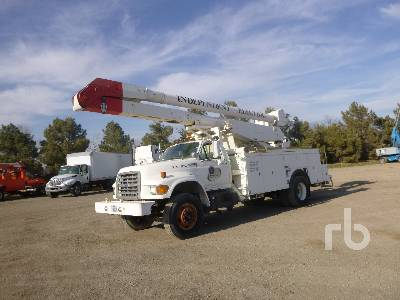 1997 FORD F800 S/A w/Altec A755L Bucket Truck