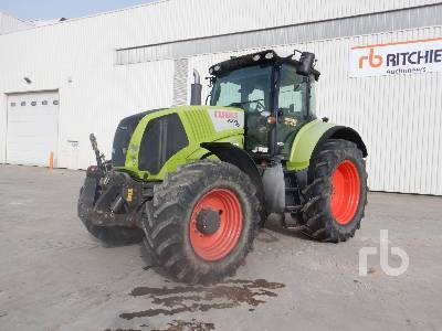 2009 CLAAS AXION 810 4WD Agricultural Tractor MFWD Tractor