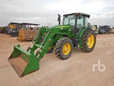 2016 JOHN DEERE 6120E MFWD Tractor