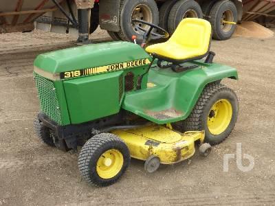 1984 JOHN DEERE 316 51 In. Garden Tractor