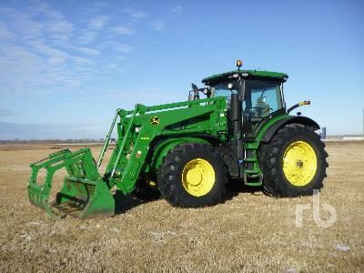 2018 JOHN DEERE 7210R Row Crop MFWD Tractor