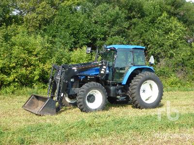 2001 NEW HOLLAND TM125 MFWD Tractor